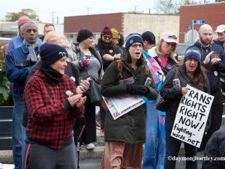 Detroit trans rights demonstration