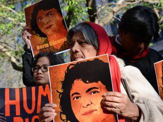 A vigil is held for Berta Cáceres. (April 5, 2016)